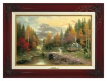 Valley of Peace, The - Canvas Classic (Brandy Frame)