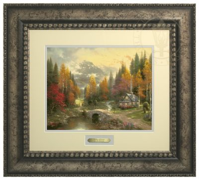 Valley of Peace, The - Prestige Home Collection (Antiqed Silver Frame)