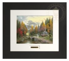Valley of Peace, The - Modern Home Collection (Espresso Frame)