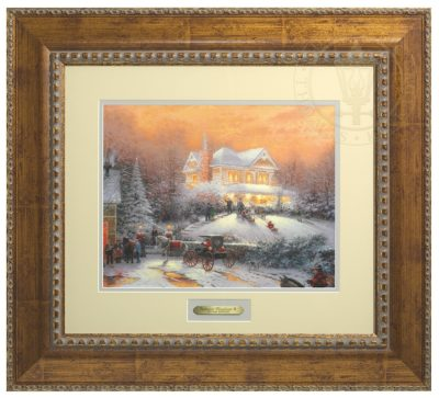 Victorian Christmas II - Prestige Home Collection (Antiqued Gold Frame)