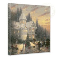 """Victorian Christmas - 14"""" x 14"""" Gallery Wrapped Canvas"""