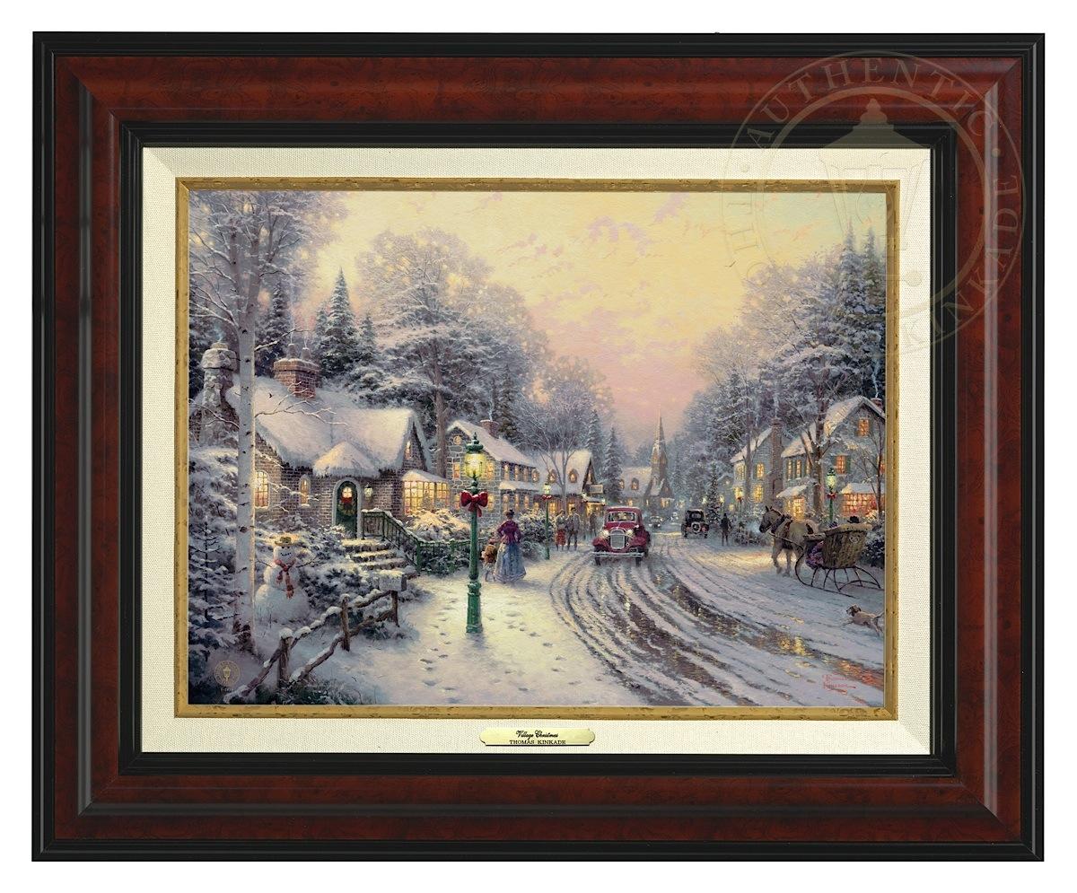 Details about Thomas Kinkade Village Christmas – Canvas Classic ...