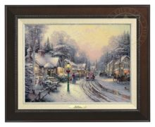 Village Christmas - Canvas Classic (Espresso Frame)