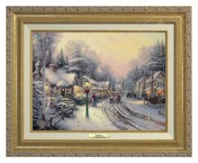 Village Christmas - Canvas Classic (Gold Frame)