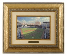 Yankee Stadium - Brushwork (Gold Frame)
