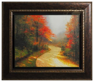 Autumn Lane - Floating Textured Print