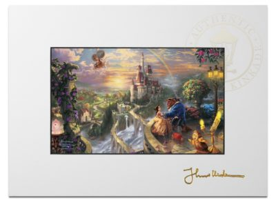 """Beauty and the Beast Falling in Love - 9"""" x 12"""" Matted Print"""