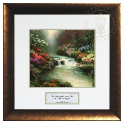 Beside Still Waters - Inspirational Print (Ferrosa Bronze Frame)