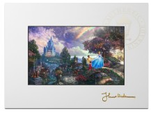 "Cinderella Wishes Upon A Dream - 9"" x 12"" Matted Print"