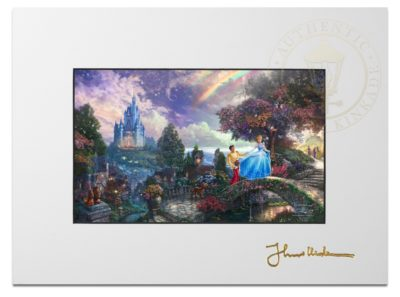 """Cinderella Wishes Upon A Dream - 9"""" x 12"""" Matted Print"""