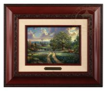 Country Living -  Brushwork (Burl Frame)