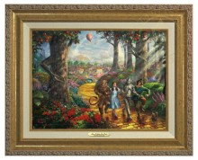 Follow  The Yellow Brick Road - Canvas Classic (Gold Frame)
