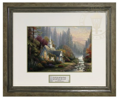 The Forest Chapel - Inspirational Print (Lucerne Sage Frame)