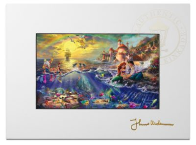 """The Little Mermaid - 9"""" x 12"""" Matted Print"""