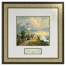 A Light in the Storm - Inspirational Print (Canaletto Ivory Frame)
