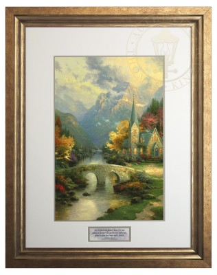 Mountain Chapel , The  - Inspirational Print (Lucerne Topaz Frame)