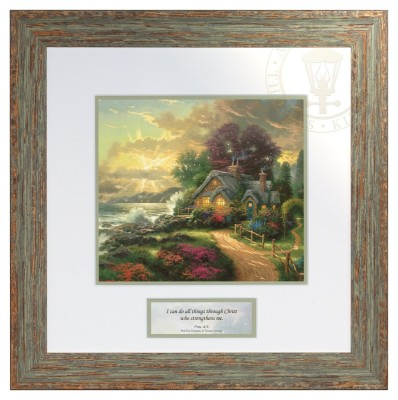 A New Day Dawning - Inspirational Print (Brittany Frame Frame)