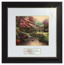 Pools of Serenity  - Inspirational Print (Dresden Black/Silver Frame Frame)