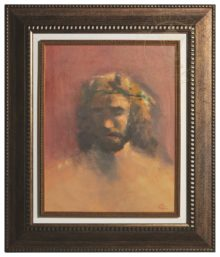 The Prince of Peace - Floating Textured Print