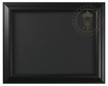 "Satin Black - 9"" x 12"" Matted Print Frame"