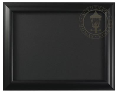 "Satin Black - 9"" x 12"" Matted Print Frame"