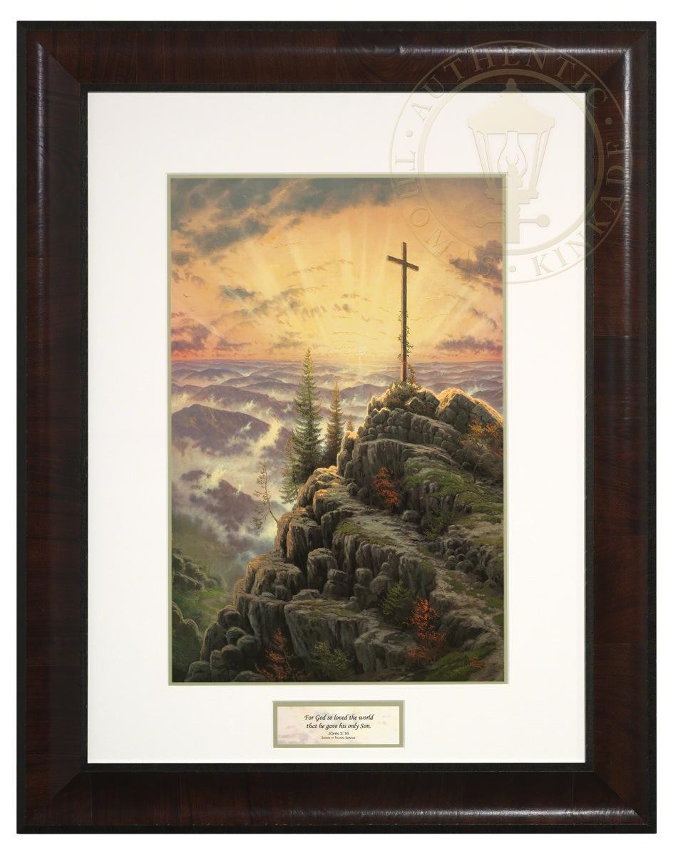 Sunrise Inspirational Print Belmont Veneer Frame