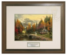 The Valley of Peace - Inspirational Print (Hudson Frame)