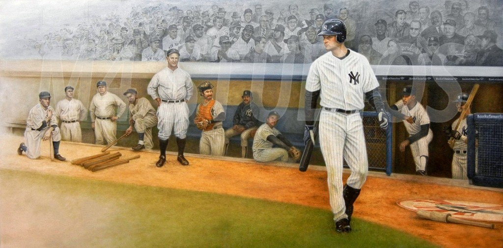 How To Frame A Jersey >> Yankee Proud by Mike Kupka - Thomas Kinkade Galleries of ...