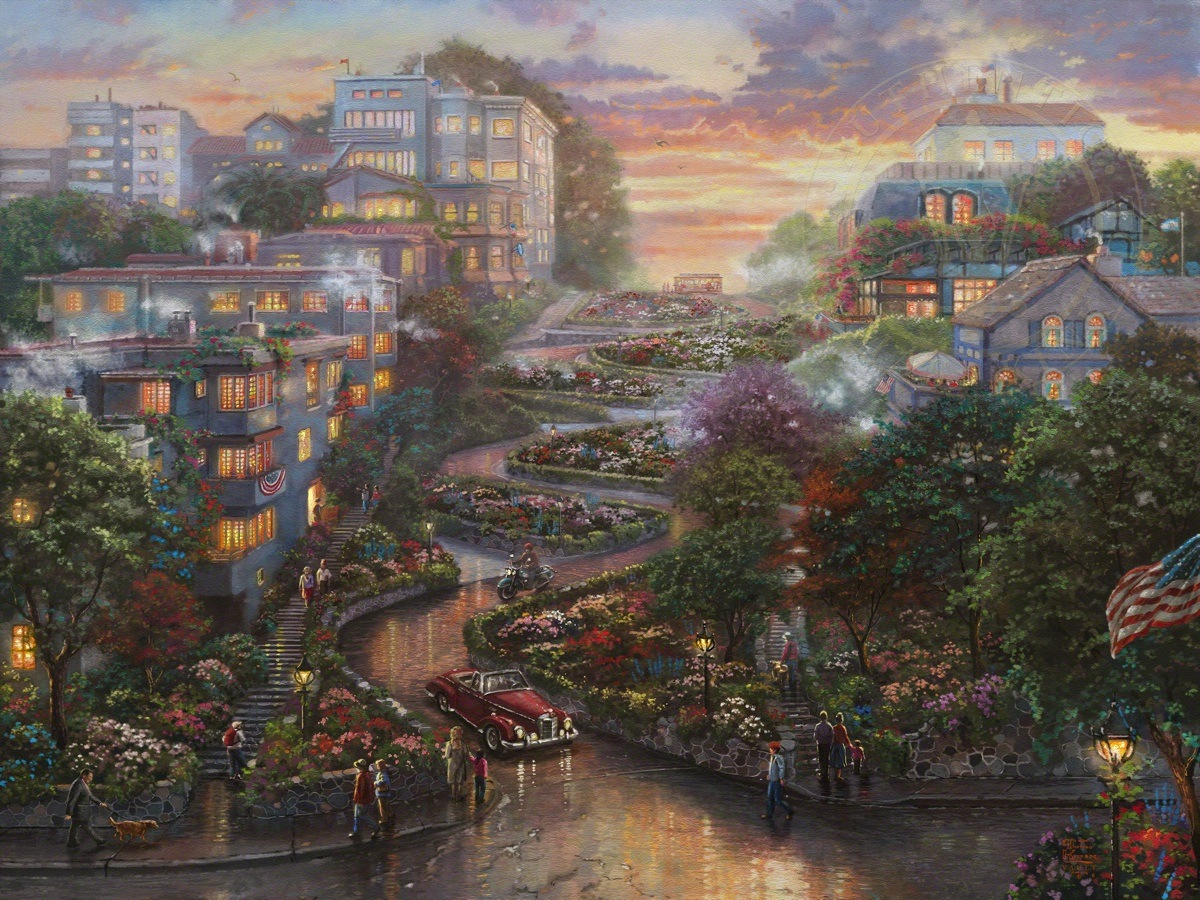 San Francisco Lombard Street Ii Limited Edition Art