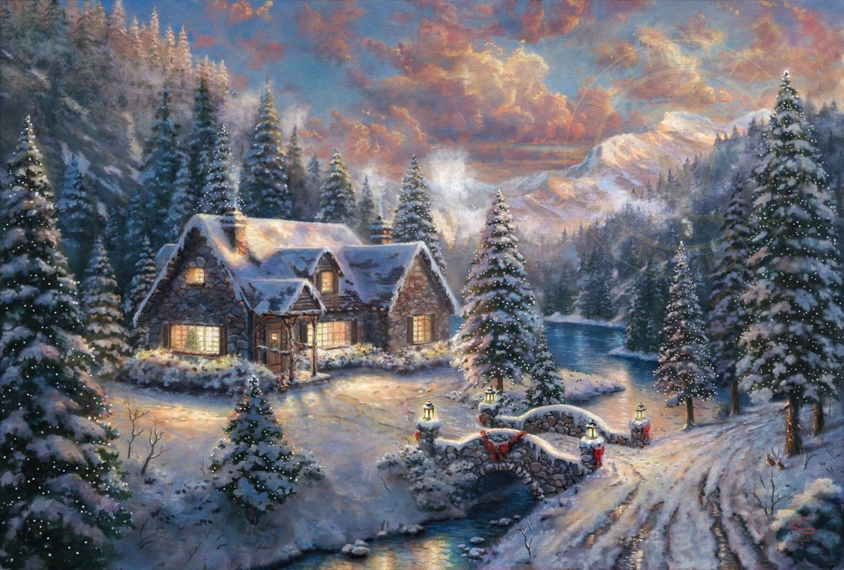 High Country Christmas - Limited Edition Art - Thomas Kinkade ...