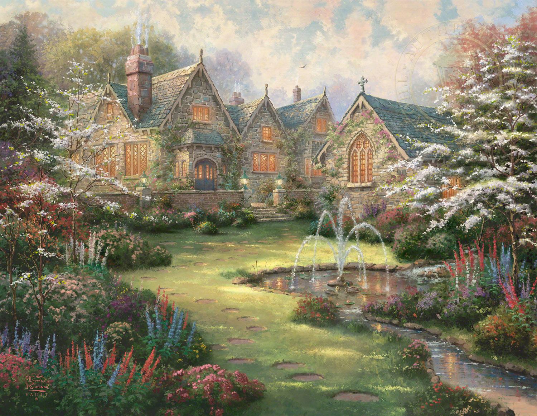Garden Manor Limited Edition Art Thomas Kinkade