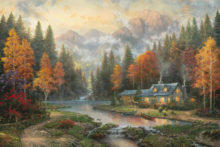 Evening at Autumn Lake - Limited Edition Art