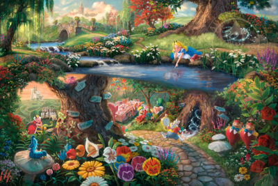 Thomas Kinkade Alice in Wonderland painting