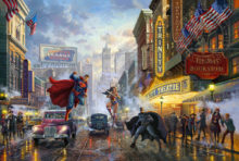Batman Superman Wonder Woman Thomas Kinkade DC