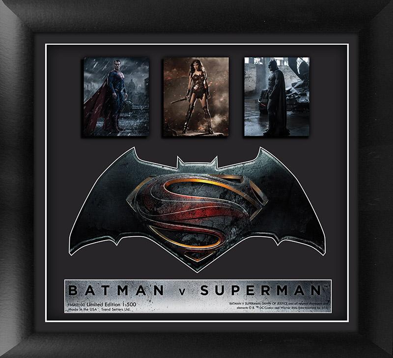 The Batman v Superman: Dawn of Justice™ (Trio) Framed Movie Art ...