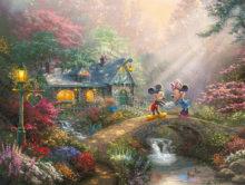 Disney Mickey and Minnie - Sweetheart Bridge - Limited Edition Art