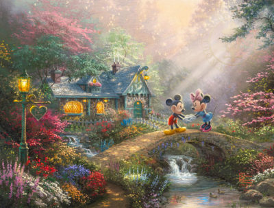 Disney Mickey and Minnie - Sweetheart Bridge - Limited Edition Art