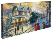 "All Aboard for Christmas – 16"" x 31"" Gallery Wrapped Canvas"