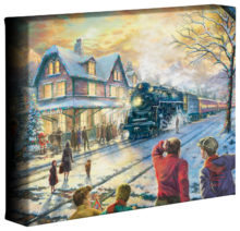 "All Aboard for Christmas - 8"" x 10"" Gallery Wrapped Canvas"