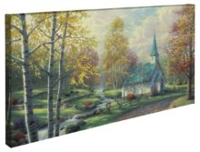 "Aspen Chapel, The – 16"" x 31"" Gallery Wrapped Canvas"