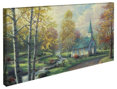 """Aspen Chapel, The – 16"""" x 31"""" Gallery Wrapped Canvas"""