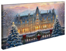 "Christmas at Biltmore® - 16"" x 31"" Gallery Wrapped Canvas"