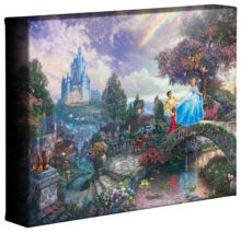 "Cinderella Wishes Upon A Dream - 8"" x 10"" Gallery Wrapped Canvas"