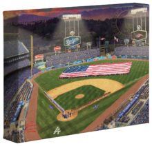 "Evening at Dodger Stadium™ - 8"" x 10"" Gallery Wrapped Canvas"