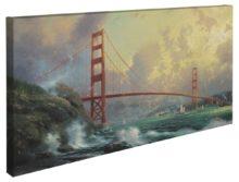 "San Francisco, Golden Gate Bridge – 16"" x 31"" Gallery Wrapped Canvas"