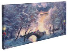 "Holiday at Central Park – 16"" x 31"" Gallery Wrapped Canvas"