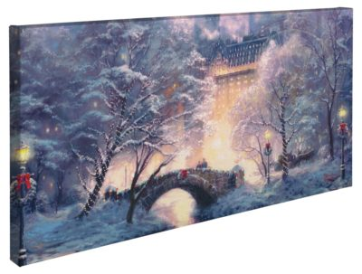 """Holiday at Central Park – 16"""" x 31"""" Gallery Wrapped Canvas"""