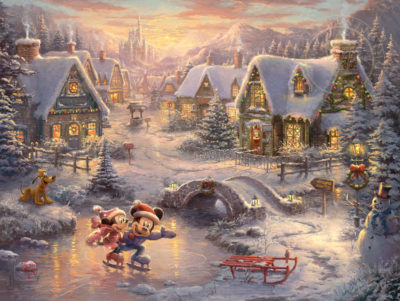 Disney Mickey and Minnie - Sweetheart Holiday - Limited Edition Art
