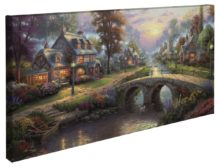 """Sunset on Lamplight Lane – 16"""" x 31"""" Gallery Wrapped Canvas"""