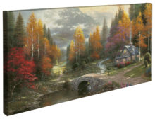 """Valley of Peace - 16"""" x 31"""" Gallery Wrapped Canvas"""
